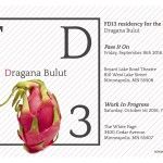 FD13 PRESENTS: DRAGANA BULUT. The Art of Happiness. SATURDAY, 1 OCTOBER 2016, 7PM. The White Page.
