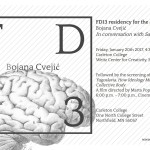 FD13 presents: Bojana Cvejić in conversation. Friday, 20 January 2017, 4.30 pm. Carleton College (Weitz Center for Creativity)