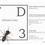 FD13 presents: Adriana Lara. The Club of Interesting Theories. Thursday, 18 May 2017, 6.45 pm, Mexican Cultural Institute of Washington D.C.